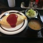 田や - 料理写真:オムライス定食。