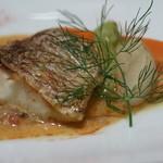 アマルフィイ ノベッロ - 白身魚のサルターティ ウニソース