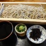 ぷらっと きすみの - ざる蕎麦600円(税込)