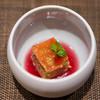 鮨 くりや川 - 料理写真:赤ワインとかぼちゃのチーズケーキです。赤ワインの酸味がよく合ってて美味しかったです。ご馳走様でした。