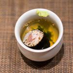 鮨 くりや川 - ブリの巻物のお茶漬け なかなか凝ったメニュー