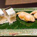 鮨 くりや川 - 太刀魚の握りは珍しい?