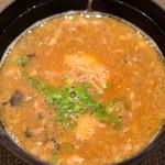 鮨 くりや川 - あら汁です。これがまた濃厚で良いお味で、最後に出されると満足感スゴイです。