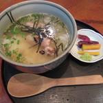 鳥長 - 鶏スープ茶漬け(¥450)