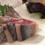 酒喰洲桜井水産 - 鯵刺し さんま刺し 鯨刺し