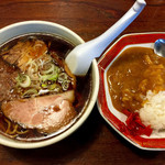 一期一会 - ランチセット(醤油ラーメン&ミニカレー)