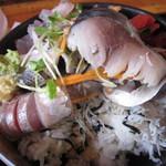 タカマル鮮魚店 - ネタとご飯の間にはシラスが・・