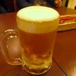 キタカレー - カレーが来るまでサッポロクラシック生410円で乾杯です。