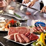鉄板焼「天王洲」 - 料理写真:厳選された食材の数々
