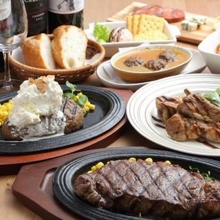 お肉料理中心のご宴会も。ワインに合う料理をお楽しみください
