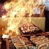 下町の空 - 料理写真:火がついた餃子
