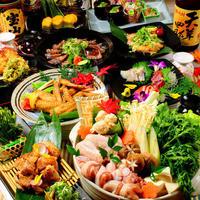2H飲み放題付き《全7品》近江鶏のすき焼き鍋コース4500円