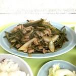 北海ラーメン - 蒜苗炒定食