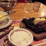 ブロンコビリー - 料理写真:炭焼きジューシーハンバーグ