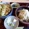 そばひろ - 料理写真:<'15/10/29>かき揚げ丼セット(蕎麦大盛り)
