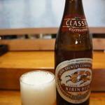 魚亭 やつか - ドリンク写真:刺身をいただくなら、当然ビールです
