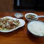 中華料理叙香園 - 肉味噌野菜定食850円