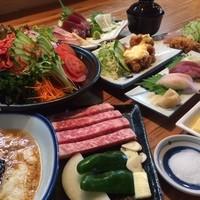 宴会にぴったり!飲み放題付きコース料理(3000円~)※写真は5000円コース