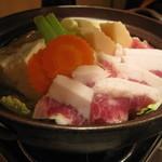 43874895 - イベリコ豚と新白菜の塩鍋