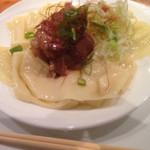 43890991 - 角煮つけ麺  麺は平打ちをチョイス!