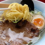 函館バスラーメン花道 - 塩ラーメン 麺