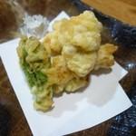 おけしょう鮮魚の海中苑 - 料理写真:タラの白子天ぷら