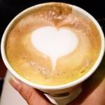 カフェ ジーノ テイク アウェイ - 料理写真:テイクアウトのカップの中にもラテアート♡