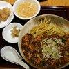 四川料理 洛楽 - 料理写真:激辛!麻婆焼きそばセット