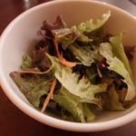 オステリア ラ カンティネッタ - セットのサラダ