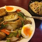 太公刀削麺 - スペアリブ麺&ネギチャーシュー刀削麺