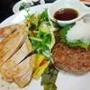 とり雅 - 料理写真:ポークステーキ&ハンバーグ