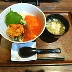 西丸漁港 - ウニ・イクラ二色丼❤ヾ(´∀`ヾ)