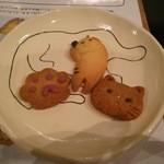 44022341 - クッキー。お皿の遊び心にも注目♪