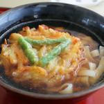 きしめんの店 石波志 - 料理写真:野菜かき揚げ きしめん 600円