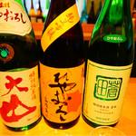 銀座酒蔵検校 - ひやおろし飲み比べ3種 真ん中のが一番好みでした(*^^*)