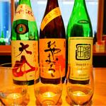 銀座酒蔵検校 - ひやおろし飲み比べ3種 650円