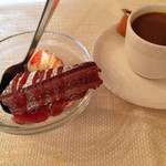サルマーレ - ドラキュラランチ。デザートとコーヒー