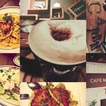 CAFE M - ⑅ホイップクリームラテ⑅ ⑅渡り蟹のアメリケーヌリングイーネ⑅ ⑅田舎風鶏もも肉⑅