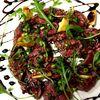 ビストロ  TOMO - 料理写真:黒毛和牛イチボ肉の炙りカルパッチョ