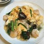 萬福亭 - 海老とキクラゲの卵炒め