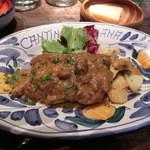 44137816 - 鶏もも肉の白ワイン煮込アグラッサート1300円