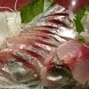 かねや - 料理写真:刺身盛り合わせ(鯵、アオリイカ、バイ貝)