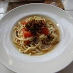 ガーデン&クラフツ カフェ - 鱧とトマトしいたけのアーリオ・オーリオ・エ・ペペロンチーノ
