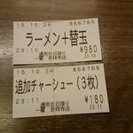 一蘭 - 食券