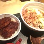 国産二八蕎麦 蕎香 - 越前おろしそばとソーツカツ丼のセット 1020円