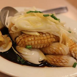 萬来亭 - 料理写真:2015年11月 烏賊の葱ソースかけ