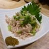 博多さか本 - 料理写真:酢モツ 手前の柚子胡椒も自家製?美味しかったです。