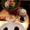 桂新堂 百福庵 - 料理写真:甘海老豆腐・黒大豆煮と甘海老のお造り、二種類のお醤油で