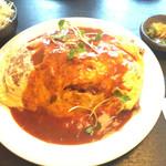 二葉亭 - お肉ゴロゴロオムライス ¥1000 大盛は+¥200