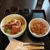 ますき神明店 みむら - 料理写真:よくばりランチ(チキン唐揚げ丼+ミートソーススパゲッティー)